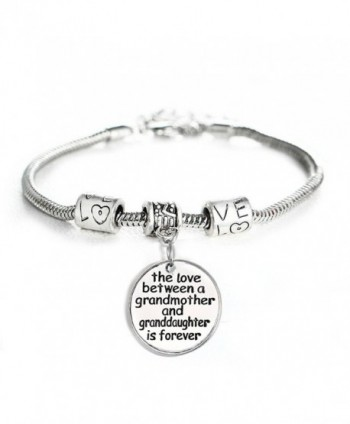 Love between a Grandmother and Granddaughter is Forever Bracelet Family Jewelry Christmas Gift - CI12NTL01LF
