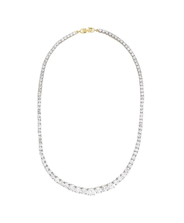 Swasti Jewels Zircon Solitaire Set Tennis Necklace Earrings White Gold Plated - SMALL EARRINGS - C212K6QFGFX