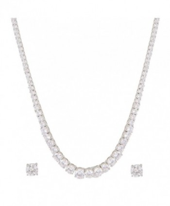 Swasti Jewels Solitaire Necklace Earrings