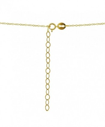 Yellow Flashed Sterling Graduated Necklace