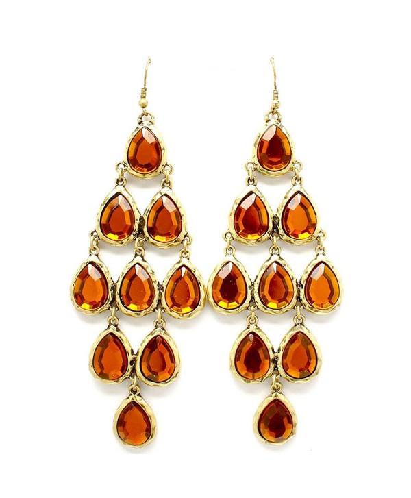 Bronze Tiered Chandelier Earrings - C411MQ3RS6P