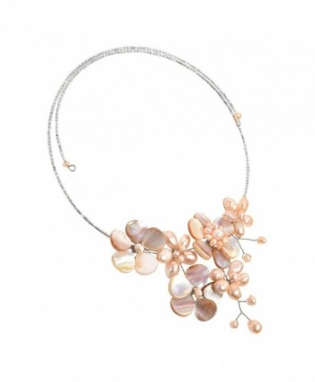 Floral Cultured Freshwater Cluster Necklace