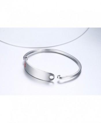 Engraving Stainless Medical Bangle Bracelet in Women's ID Bracelets