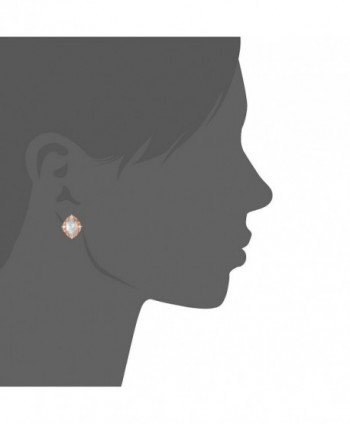 GEMSME Created white 6x8mm Earrings in Women's Stud Earrings
