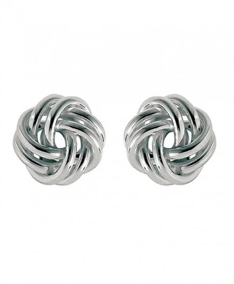 Finejewelers Sterling Silver Love Knot Earrings 10mm - C61143JXHG5