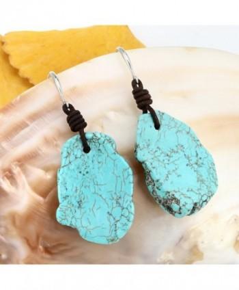 Bohemian Imitation Turquoise Earrings Genuine in Women's Drop & Dangle Earrings