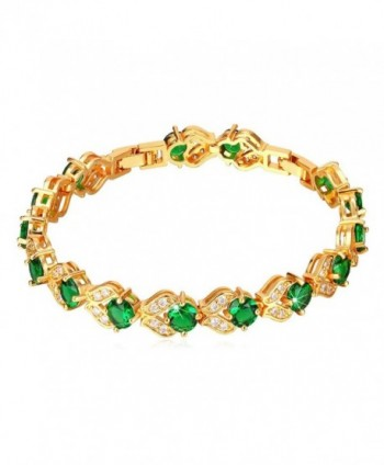 Birthstone Emerald Crystal Bracelet Plated - Green-18K Gold Plated - CT125LN9N0P