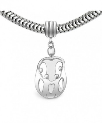 Loving Family Sterling Silver Mother Child Charm- 4 Children - CN11675HXYF