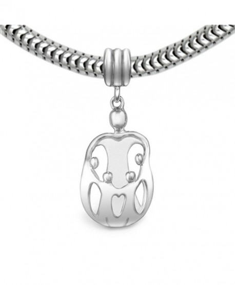 Loving Family Sterling Silver Mother Child Charm- 4 Children - CN11675HXYF