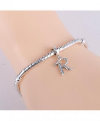 Alphabet Sterling Initial Bracelet Necklace in Women's Charms & Charm Bracelets