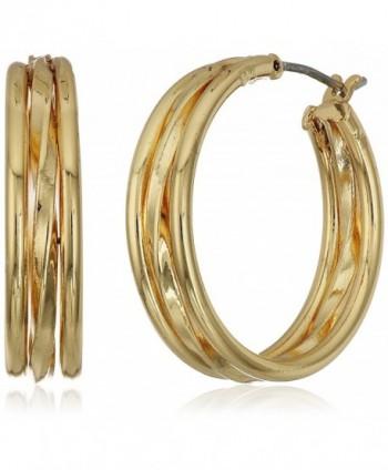 "Napier ""Classic Hoops"" Gold-Tone Layered Click-It Hoop Earrings - C912M84KFDJ"