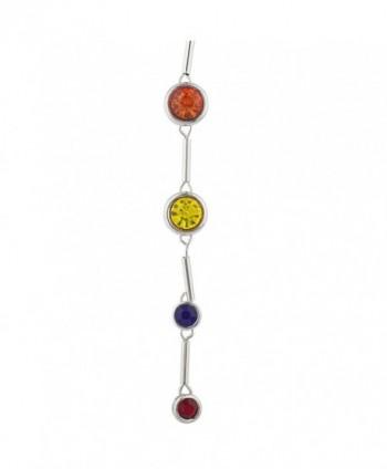 Lux Accessories SilverTon Multicolor Birthstone