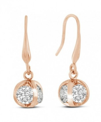 Sparkle Bargain's Swarovski Elements Sparkle Ball Women's Fashion Earrings - Rose - C4128T3S9GX