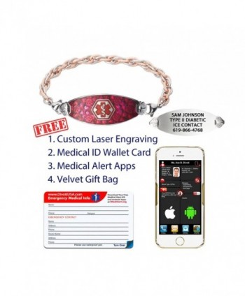 Divoti Engraved Blooming Inter Mesh Stainless in Women's ID Bracelets