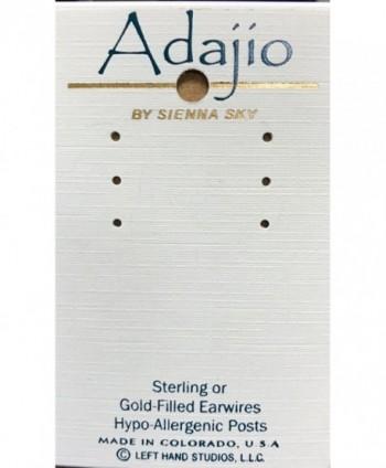 Adajio 3 Part Open Stack OVAL EARRINGS Sterling Silver Dangle Gift Box