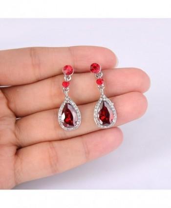 EleQueen Silver tone Zirconia Teardrop Earrings in Women's Jewelry Sets