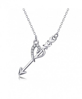 "Angel caller Cupid's Love Arrow Braveheart Choker Women Pendant Necklace 18"" - CX183D350YL"