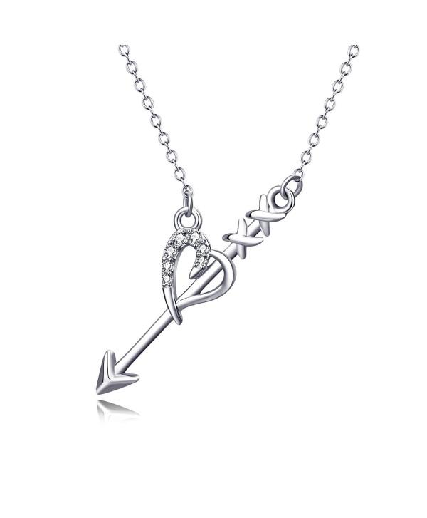 "Angel caller Cupid's Love Arrow Braveheart Choker Women Pendant Necklace 18"" - CX183D350YL"