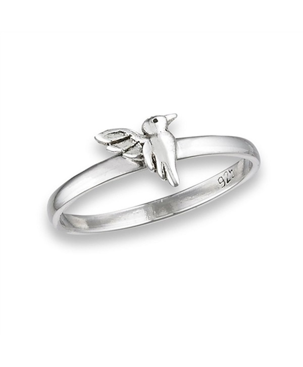 High Polish Hummingbird Cute Bird Ring New .925 Sterling Silver Band Sizes 3-8 - CJ182OO2YER