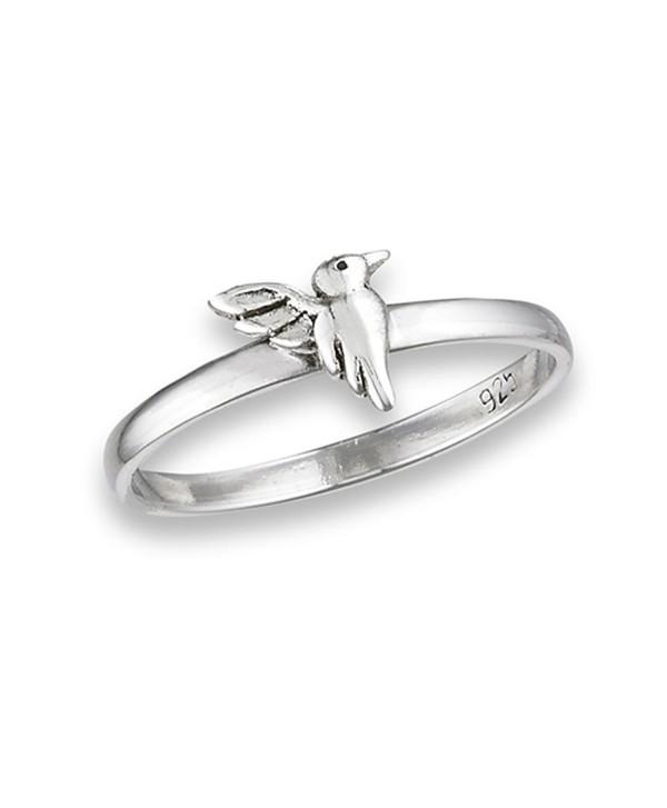 High Polish Hummingbird Cute Bird Ring New .925 Sterling Silver Band Sizes 3-8 - CJ182OO2YER