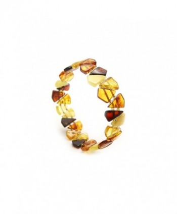Genuine Natural Baltic Amber Stretch Bracelet For Women - Multicolored - CU11A1FBS15
