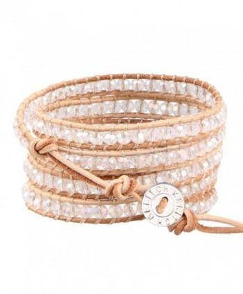 KELITCH Crystal Bracelet Handmade Stackable