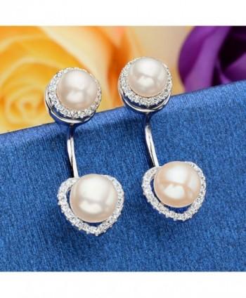 EleQueen Sterling Freshwater Cultured Earrings in Women's Earring Jackets