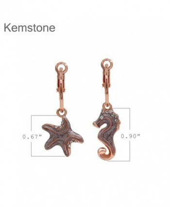 Kemstone Asymmetric Starfish Earrings Jewelry in Women's Drop & Dangle Earrings