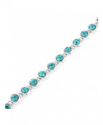 Glamorousky Cutie Dots Bracelet with Blue Austrian Element Crystals (1077) - CT118SOBAI7