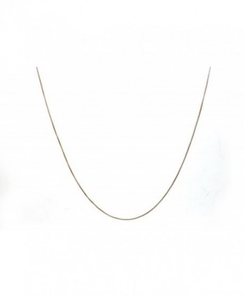 Chelsea Jewelry Basic Collections 1.5mm Wide Round Box Chain Necklace. (16 inches rose gold plated base) - CP12NH6Q6FW