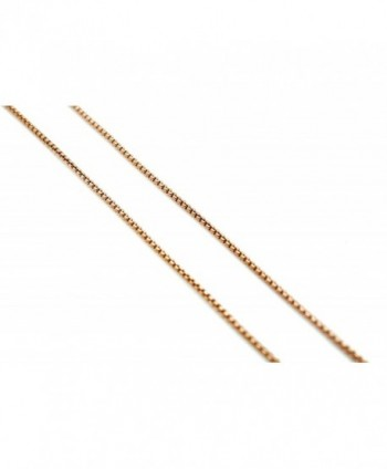 Chelsea Jewelry Basic Collections 1.5mm Wide Round Box Chain Necklace. 24 inches white gold plated base