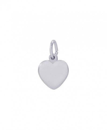 Rembrandt Sterling Silver Heart Charm - 3D - CO119EKWRO1