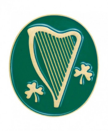 Harp and Shamrock Lapel Pin B-74 - CH113K70SFJ