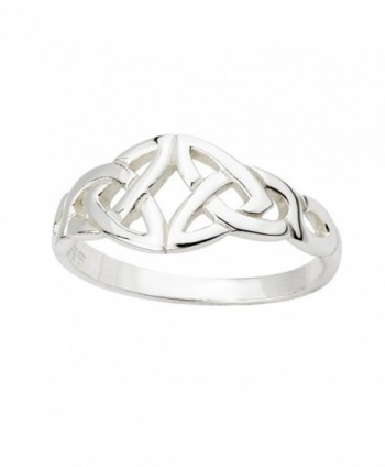 Trinity Knot Ring Sterling Silver Irish Made Size 7 - CJ118FVYL1H