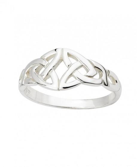 Trinity Knot Ring Sterling Silver Irish Made Size 7 - CJ118FVYL1H
