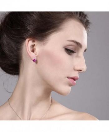 2 08 Created Sapphire White Earrings