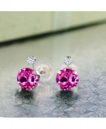 2 08 Created Sapphire White Earrings in Women's Stud Earrings
