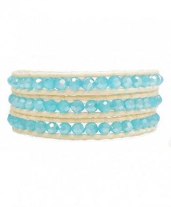Womens Beaded Bracelet Faceted Handmade