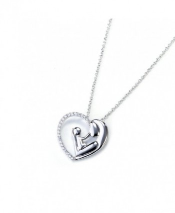 Sterling Silver Zirconia Enternity Necklace in Women's Pendants
