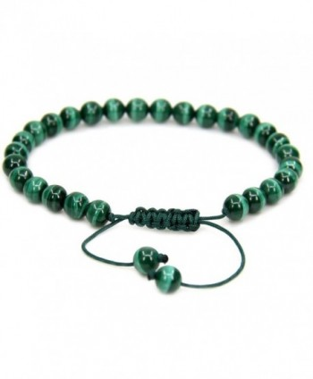 Natural Malachite Gemstone Adjustable Bracelet - A Grade Malachite - C9187RE876E