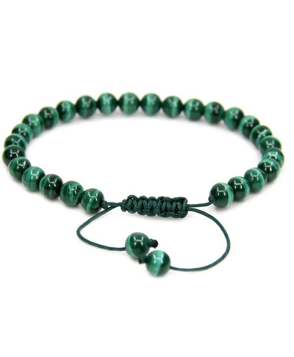 Natural Malachite Gemstone Adjustable Bracelet - A Grade Malachite - C9187RE876E