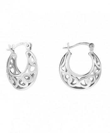 Sterling Silver Filigree Small Earrings