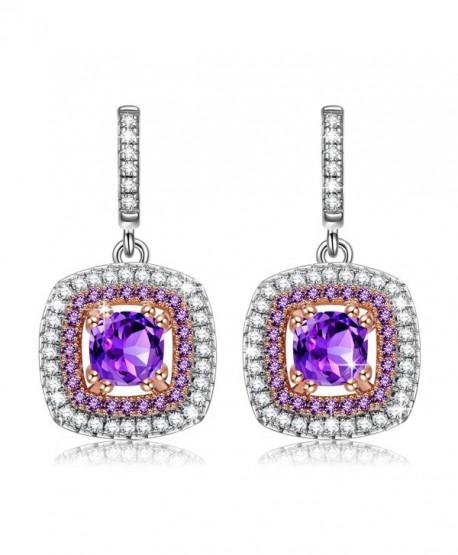 "NINASUN ""Impression-Sunrise"" 925 Sterling Silver AAA CZ Dangle Earrings - Best Choice for Graceful Lady - CM187IMA3RZ"