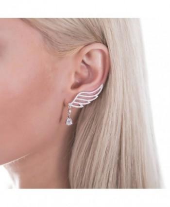 BERRICLE Rhodium Sterling Zirconia Crawlers in Women's Cuffs & Wraps Earrings