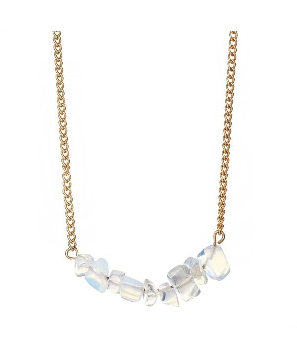 Dainty Opalite Necklace Minimalist Jewellry - Opalite - C4188ISW6EM