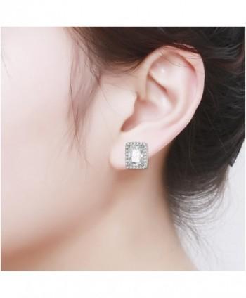 HONGYE Platinum Elements Zirconia Earrings