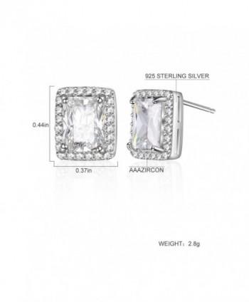 HONGYE Platinum Elements Zirconia Earrings in Women's Stud Earrings
