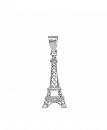 Fine 925 Sterling Silver Eiffel Tower Charm Pendant - CS128Z2JHZF