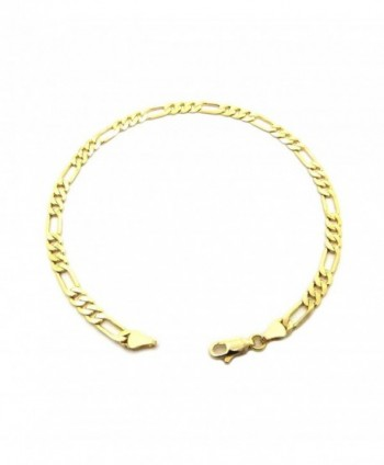 """Electro Gold Plated 10"""" Diversified Chain Anklet Foot Chain Bracelet in Gold Color (Made in Korea) - CB12H0G129L"""