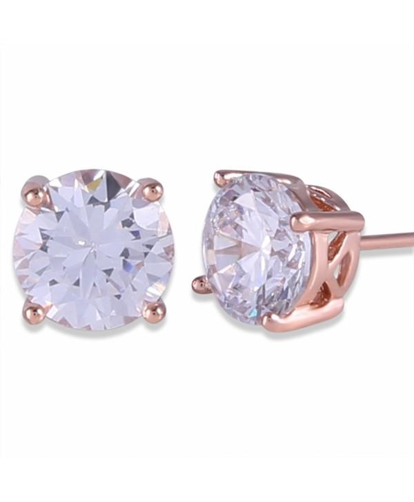 GULICX Rose Gold Tone Unique Chic Women Wedding Stud Earring - white - C211Y6L9ZC5